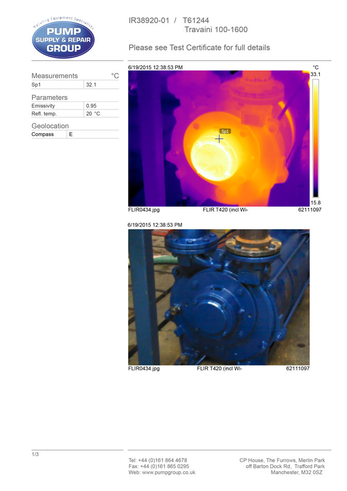 Pump Group Engineers Now Armed With Flir Thermal Cameras