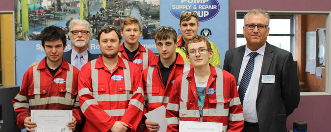 Apprentices Receiving Manufacturer Training