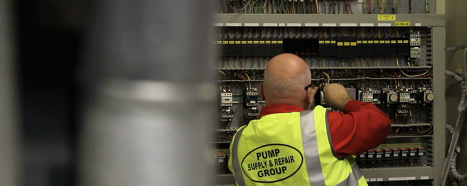 Pump Supply & Repair Group has a number of trained electrical engineers who are ideally situated for carrying out all of your onsite electrical needs related to the control of on site machinery. We offer the maintenance of electrical and mechanical equipment to various national Utility providers, and also to their numerous contractors and suppliers supplying a one stop engineering and electrical solution.