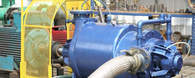 Liquid Ring Vacuum Pump being tested to determine performance