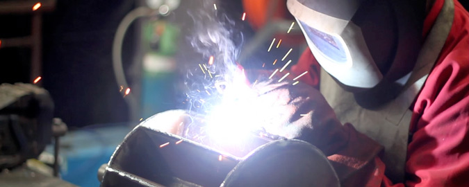Coded welder repairing a pump rotor. From design engineering including structural, mechanical and electrical design, fabrication, assembly and and commissioning, we can project manage any modifications or enhancements.